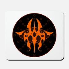 Tribal Medallion - Orange Mousepad