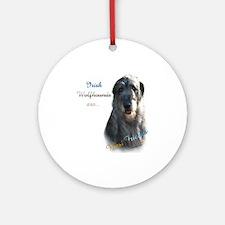 Wolfhound Best Friend 1 Ornament (Round)
