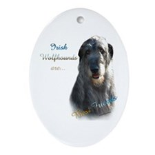 Wolfhound Best Friend 1 Oval Ornament