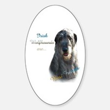 Wolfhound Best Friend 1 Oval Decal
