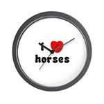 I Love Horses Wall Clock