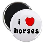 "I Love Horses 2.25"" Magnet (100 pack)"