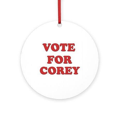 Vote for COREY Ornament (Round)