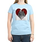 Abyssinian Cat Heart Women's Light T-Shirt