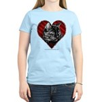 Tortoise Shell Cat Heart Women's Light T-Shirt