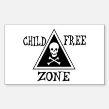 Child-Free Zone Rectangle Decal