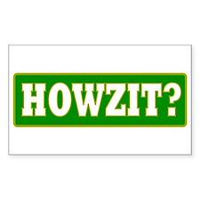 Howzit Rectangle Decal