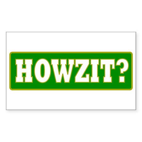 Howzit Rectangle Sticker