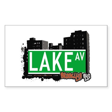 LAKE AV, BROOKLYN, NYC Rectangle Sticker
