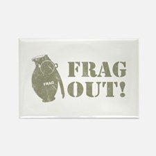 Frag Out! Rectangle Magnet