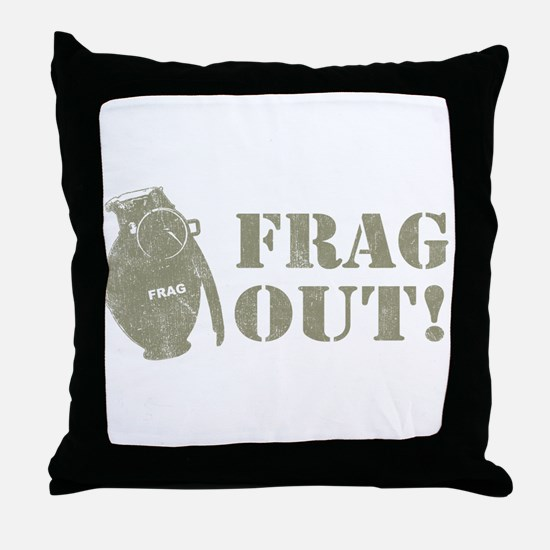 Frag Out! Throw Pillow