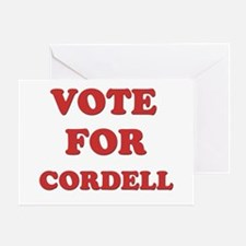 Vote for CORDELL Greeting Card