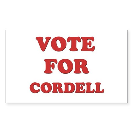 Vote for CORDELL Rectangle Sticker