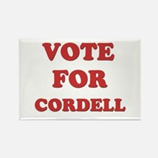 Vote for CORDELL Rectangle Magnet