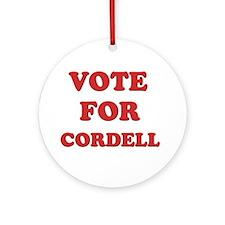Vote for CORDELL Ornament (Round)