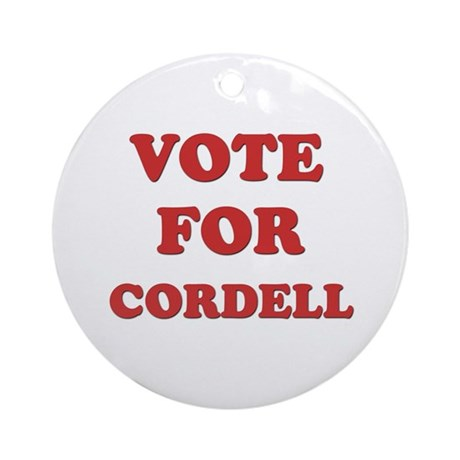 Vote for CORDELL Ornament (Round)