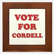 Vote for CORDELL Framed Tile