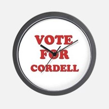 Vote for CORDELL Wall Clock