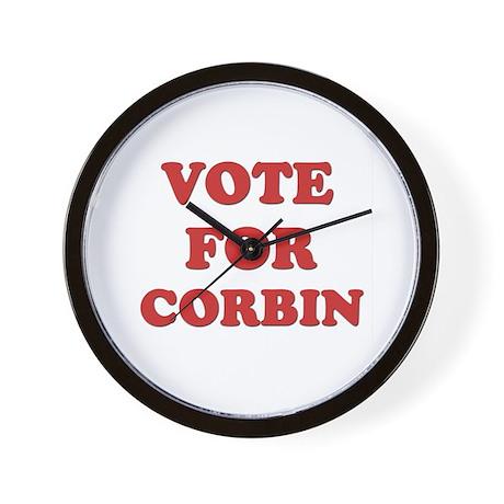 Vote for CORBIN Wall Clock
