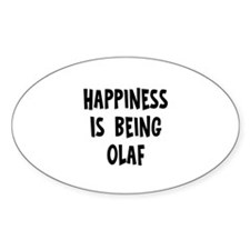 Happiness is being Olaf Oval Decal