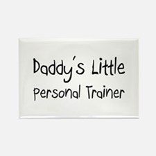 Daddy's Little Personal Trainer Rectangle Magnet