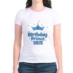 1st Birthday Prince Tate! Jr. Ringer T-Shirt