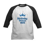1st Birthday Prince Tate! Kids Baseball Jersey