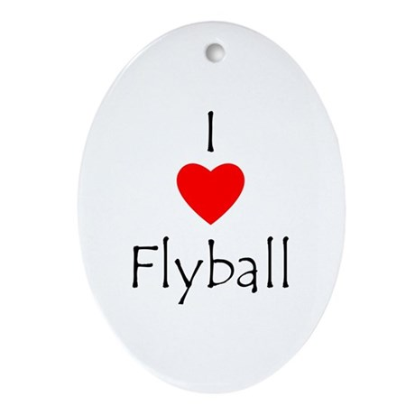 I Love Flyball Ornament (Oval)