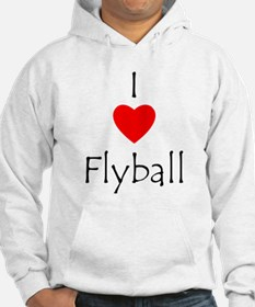 I Love Flyball Hoodie