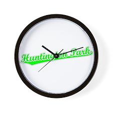 Retro Huntington P.. (Green) Wall Clock