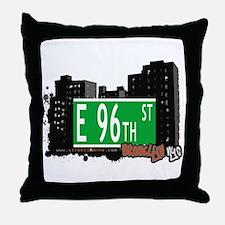 E 96th STREET, BROOKLYN, NYC Throw Pillow