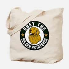 Obey The Golden Retriever Tote Bag