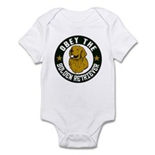 Obey The Golden Retriever Infant Bodysuit
