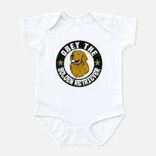 Obey The Golden Retriever Infant Bodysuit