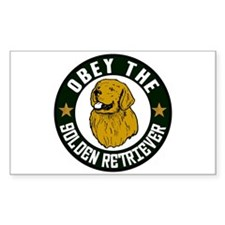 Obey The Golden Retriever Rectangle Decal