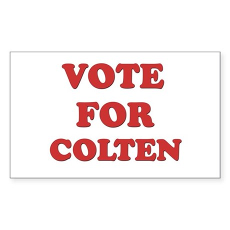 Vote for COLTEN Rectangle Sticker