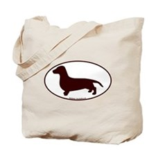 Dachshund Euro Oval Tote Bag