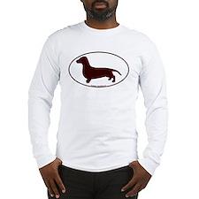 Dachshund Euro Oval Long Sleeve T-Shirt
