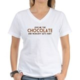 Hand over the chocolate and nobody gets hurt Womens V-Neck T-shirts