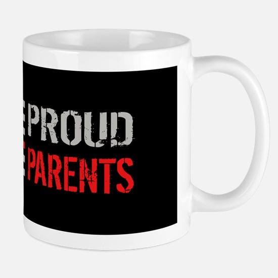 Firefighter: Proud Parents (Black) Mug