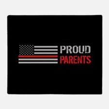 Firefighter: Proud Parents (Black) Throw Blanket