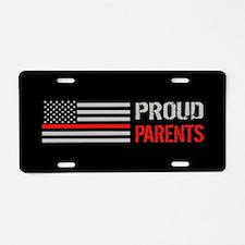 Firefighter: Proud Parents Aluminum License Plate