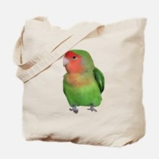 Peach-faced Lovebird Tote Bag