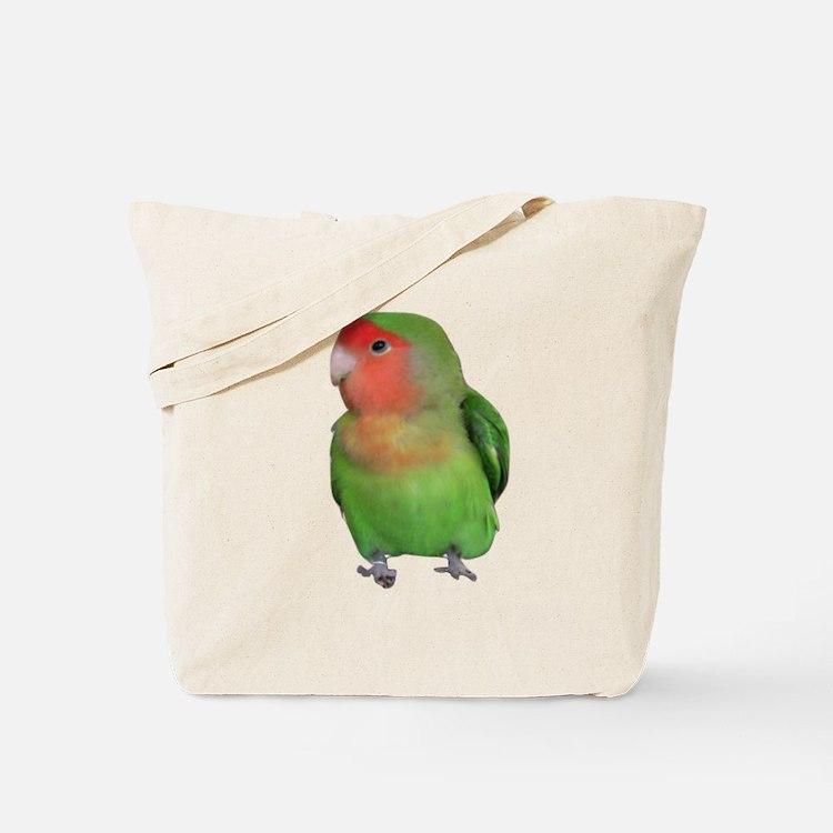 Peach-faced Lovebird Tote Bag
