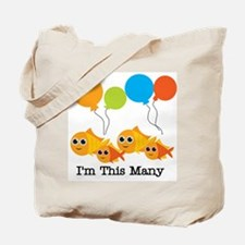 Four I'm This Many Tote Bag