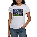 Starry Night /Schnauzer(#8) Women's T-Shirt