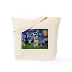 Starry Night /Schnauzer(#8) Tote Bag