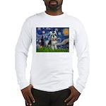 Starry Night /Schnauzer(#8) Long Sleeve T-Shirt
