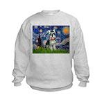 Starry Night /Schnauzer(#8) Kids Sweatshirt