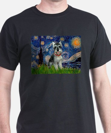 Starry Night /Schnauzer(#8) T-Shirt